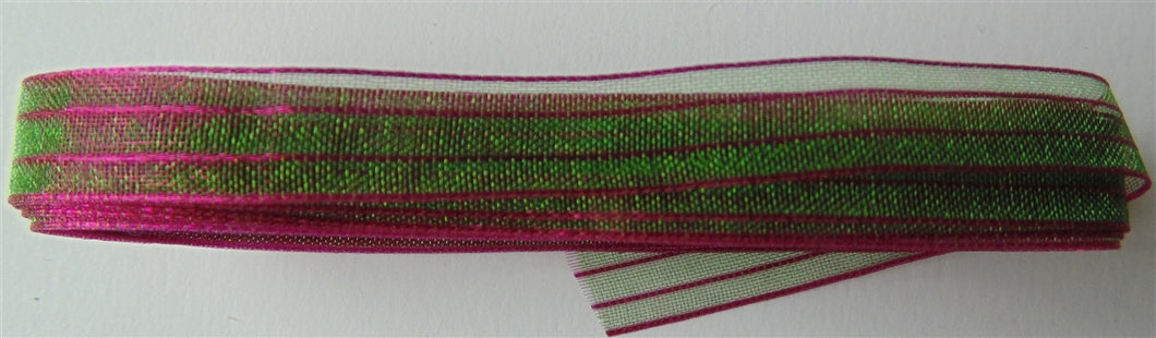 Sheer Iridescent Ribbon 3/8