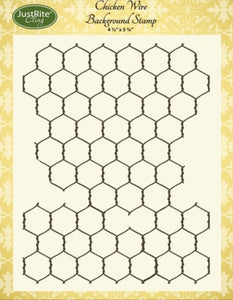 Justrite - Chicken Wire Background Stamp