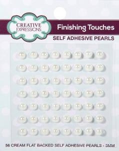 Creative Expressions Cream Self Adhesive Pearls - 5mm