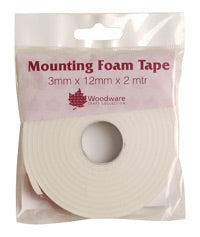 Woodware Mounting Foam Tape - 3mm x 12mm x 2m