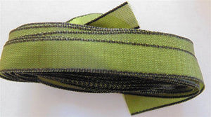 "Solid Two Tone Ribbon 3/8"" - Olive 5m"