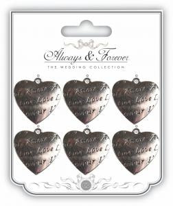 CC Always & Forever - Metal Silver Heart Charm : Amore
