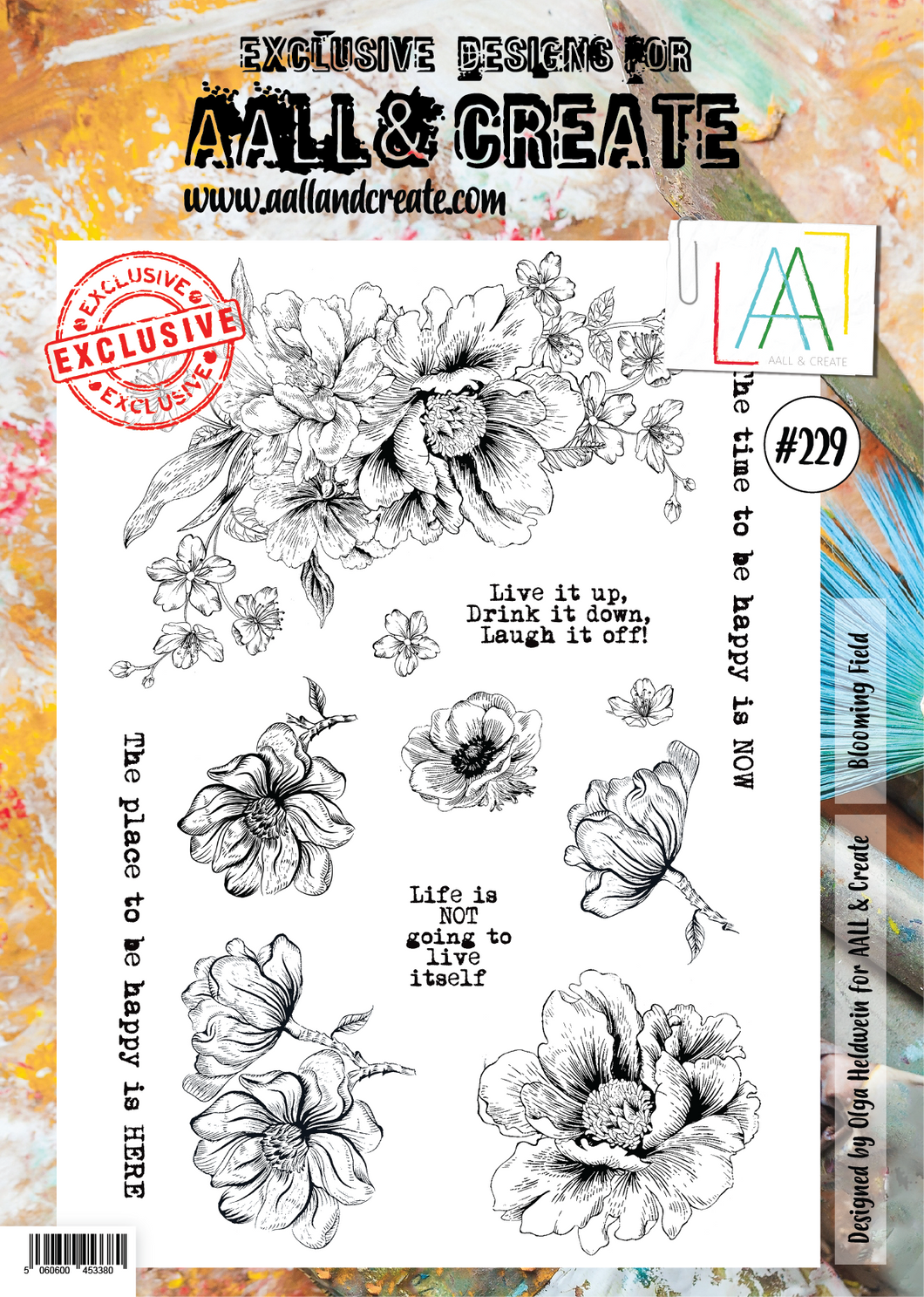 AALL & Create A4 Stamp Set #229 - Blooming Field