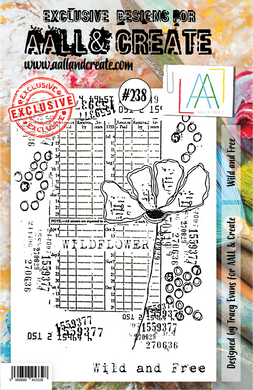 AALL & Create A5 Stamp Set #238 - Wild and Free