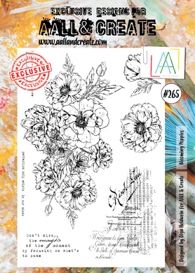 AALL & Create A4 Stamp Set #265 - Blooming Poppies