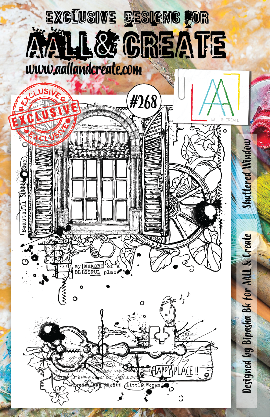 AALL & Create A5 Stamp Set #268 - Shuttered Window