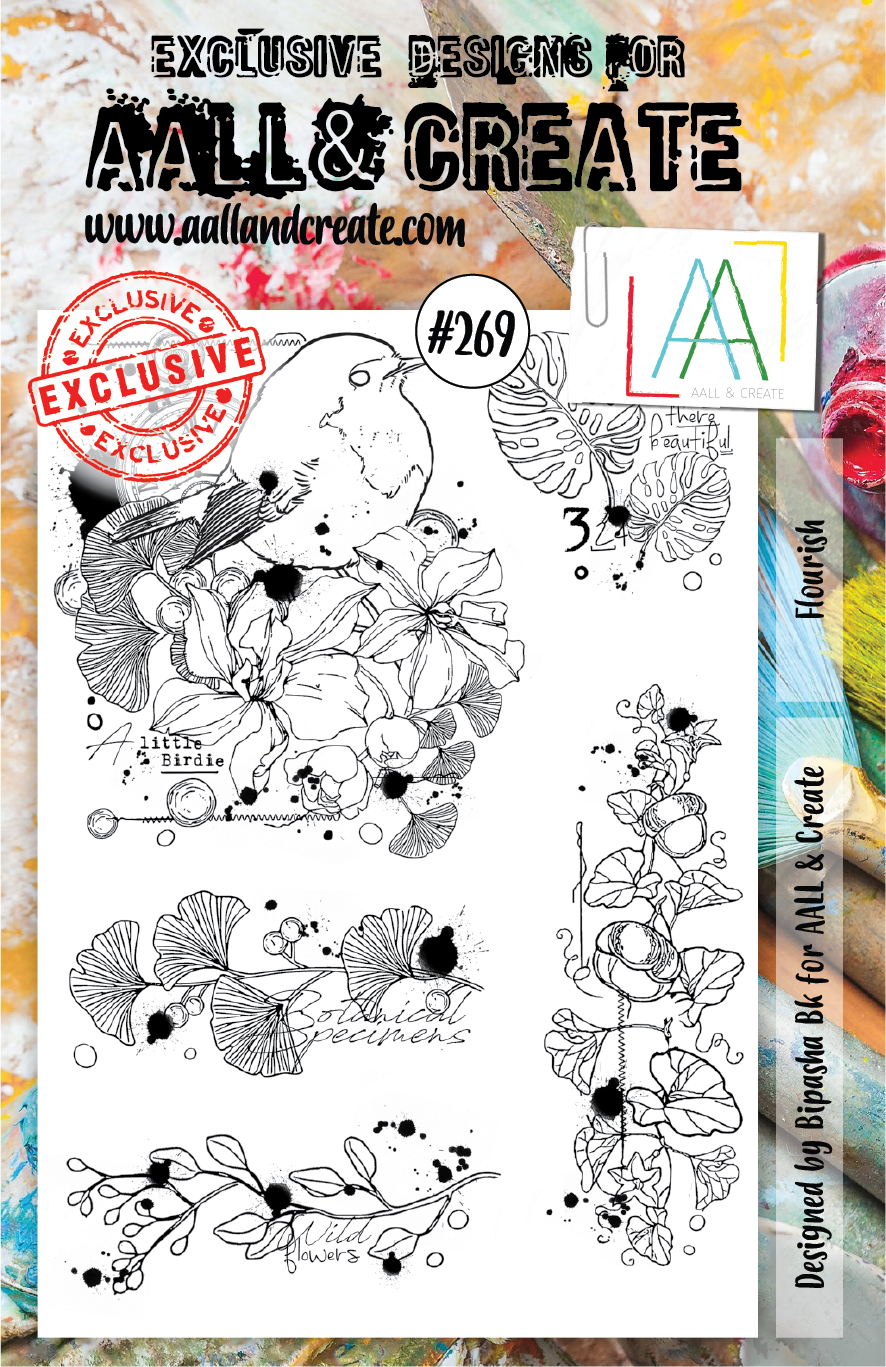 AALL & Create A5 Stamp Set #269 - Flourish