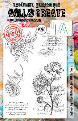 AALL & Create A5 Stamp Set #270 - Just Grow
