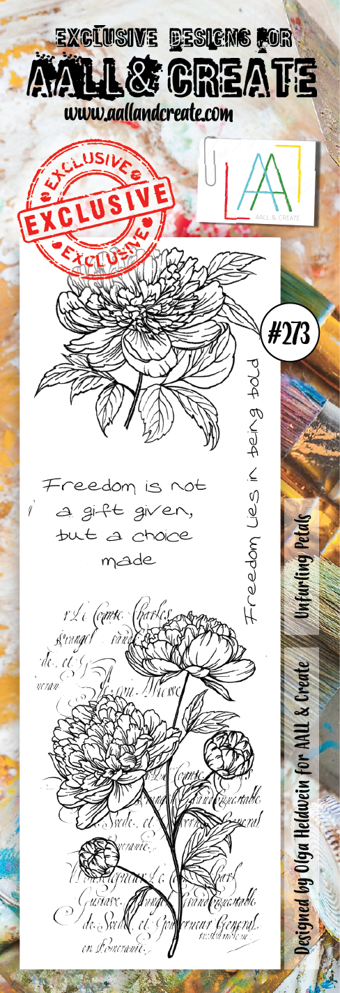 AALL & Create Border Stamp #273 - Unfurling Petals