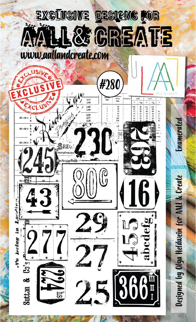 AALL & Create A6 Stamp Set #280 - Enumerated