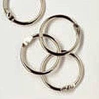 Woodware Book Rings - Silver 25mm Pack of 24