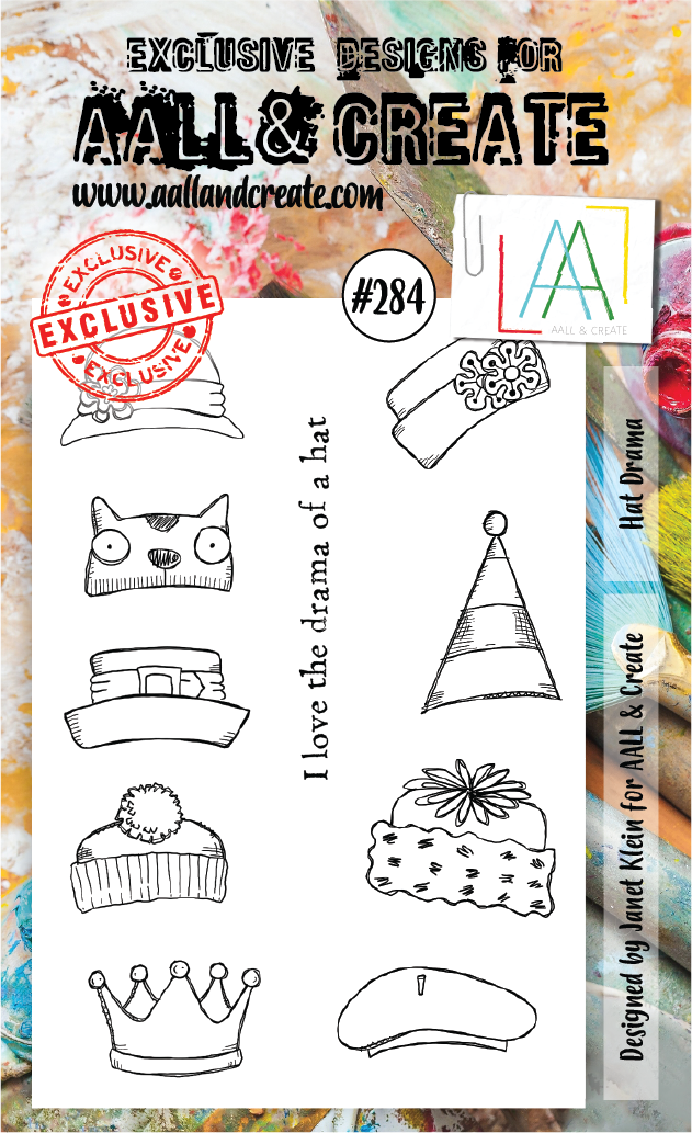 AALL & Create A6 Stamp Set #284 - Hat Drama