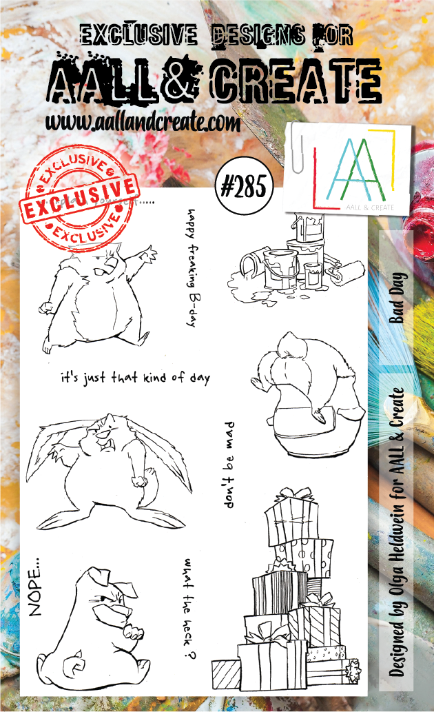 AALL & Create A6 Stamp Set #285 - Bad Day