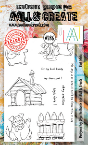 AALL & Create A6 Stamp Set #286 - Best Mate