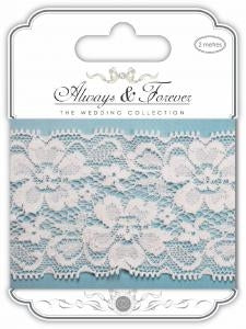 CC Always & Forever - Lace Ribbon : Floral Notes