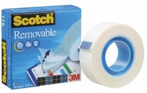 Scotch Removable Tape - 19mm x 32.9m