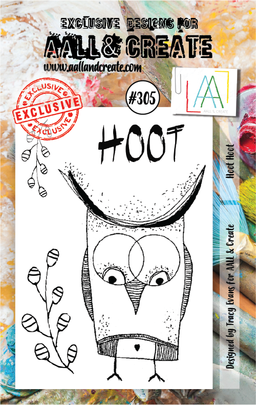 AALL & Create A7 Stamp Set #305 - Hoot Hoot