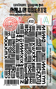 AALL & Create A7 Stamp Set #312 - Mini Tribal