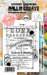 AALL & Create A7 Stamp Set #318 - Framed Details