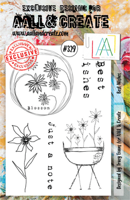 AALL & Create A5 Stamp Set #329 - Best Wishes