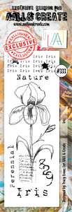AALL & Create Border Stamp #333 - Iris