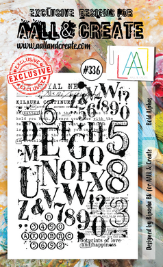 AALL & Create A6 Stamp Set #336 - Bold Alphas