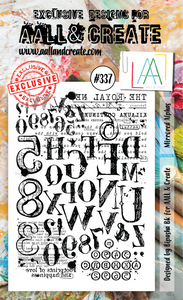 AALL & Create A6 Stamp Set #337 - Mirrored Alphas