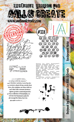 AALL & Create A6 Stamp Set #338 - Background Noise