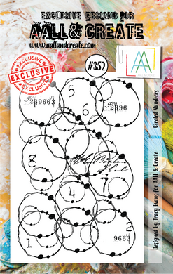 AALL & Create A7 Stamp Set #352 - Circled Numbers
