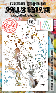 AALL & Create A6 Stencil #35 - Splashes
