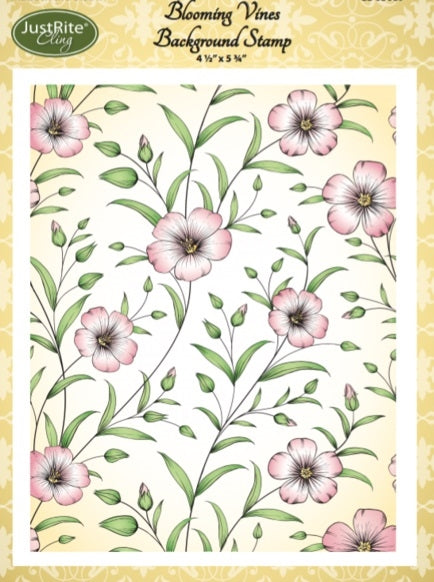 Justrite - Blooming Vines Background Stamp
