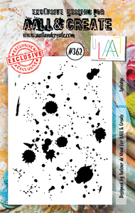 AALL & Create A7 Stamp Set #362 - Splodge