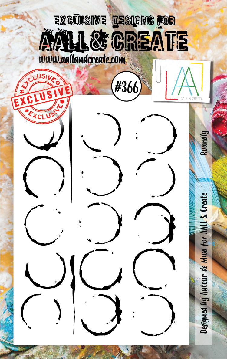 AALL & Create A7 Stamp Set #366 - Roundly