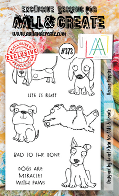 AALL & Create A6 Stamp Set #373 - Rescue Puppies