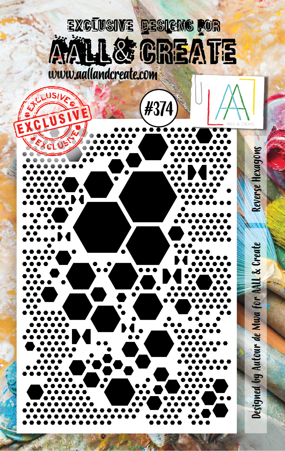 AALL & Create A7 Stamp Set #374 - Reverse Hexagons