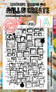 AALL & Create A6 Stamp Set #385 - Scripted Squares