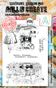 AALL & Create A5 Stamp Set #396 - Sewing Forever