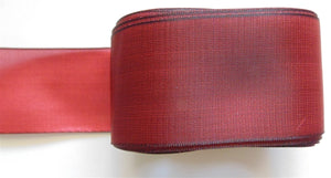 "Solid Two Tone Ribbon 1.5"" - Red 5m"