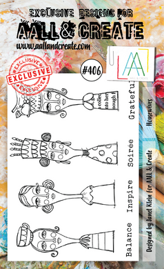 AALL & Create A6 Stamp Set #406 - Housewives