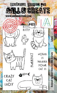 AALL & Create A6 Stamp Set #408 - Felines