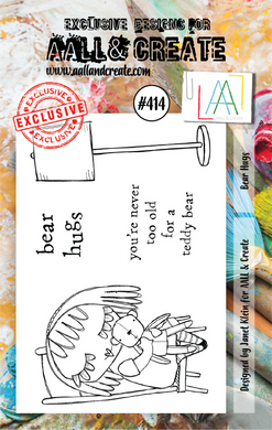 AALL & Create A7 Stamp Set #414 - Bear Hugs