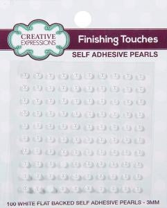 Creative Expressions White Self Adhesive Pearls - 3mm