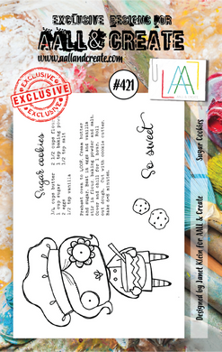 AALL & Create A7 Stamp Set #421 - Sugar Cookies