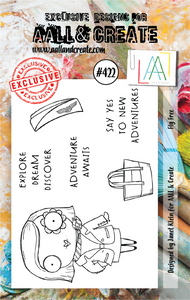 AALL & Create A7 Stamp Set #422 - Fly Free
