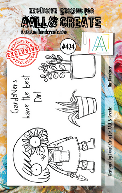 AALL & Create A7 Stamp Set #424 - The Gardener