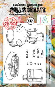 AALL & Create A7 Stamp Set #425 - The Captain