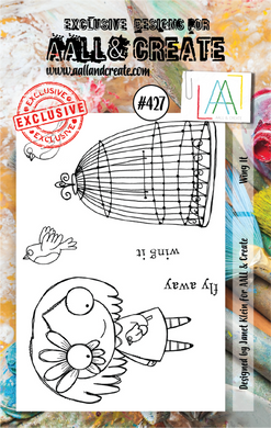 AALL & Create A7 Stamp Set #427 - Wing It