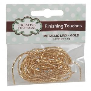 Creative Expressions Finishing Touches - Metallic Linx 1.4mm Gold