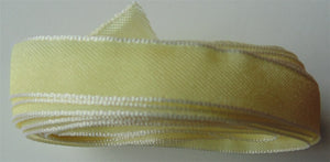 "Solid Two Tone Ribbon 3/8"" - Cream 5m"