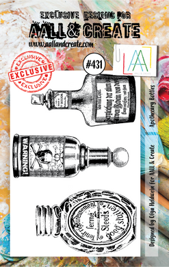 AALL & Create A7 Stamp Set #431 - Apothecary Bottles